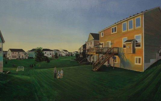 House & Architecture Painting by Nate Burbeck / 2986