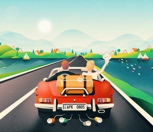 Road Illustration by Paulius Kolodzeiskis / Artist 4508