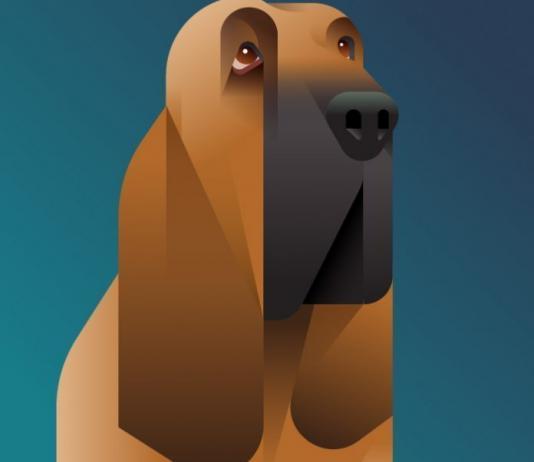 Dog Illustration by César Santillán / Artist 8589