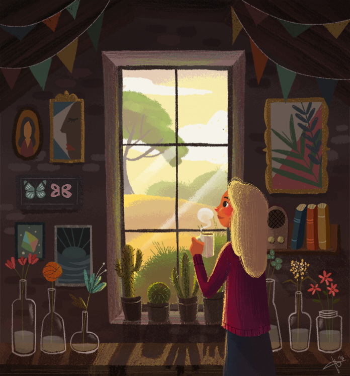 Illustration by Hana Augustine / 9847