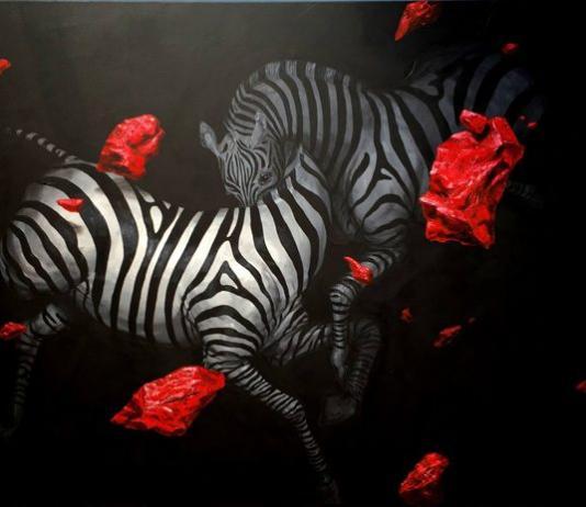 Zebra Painting by Hemad Javadzade / 10352